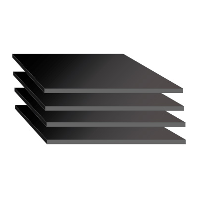 Anodized Aluminium Sheet - Black