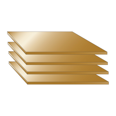 Anodized Aluminium Sheet - Bronze