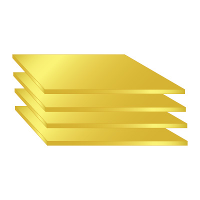 Anodized Aluminium Sheet - Gold G7-G9