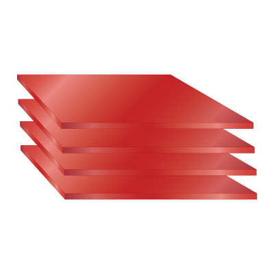 Anodized Aluminium Sheet - Red
